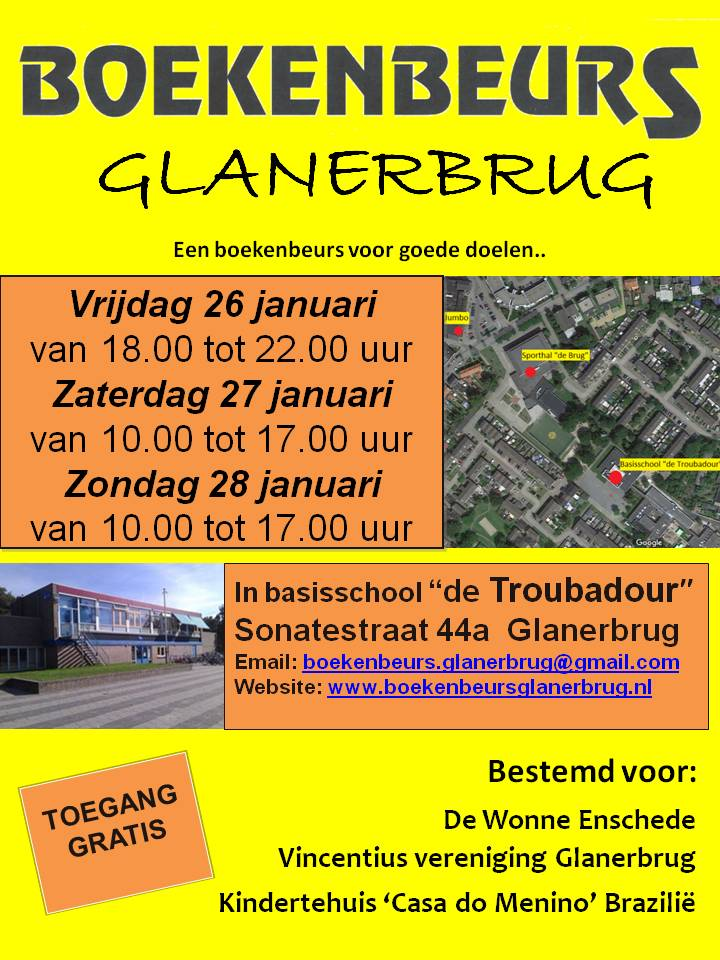 Flyer Boekenbeurs Glanerbrug 2018